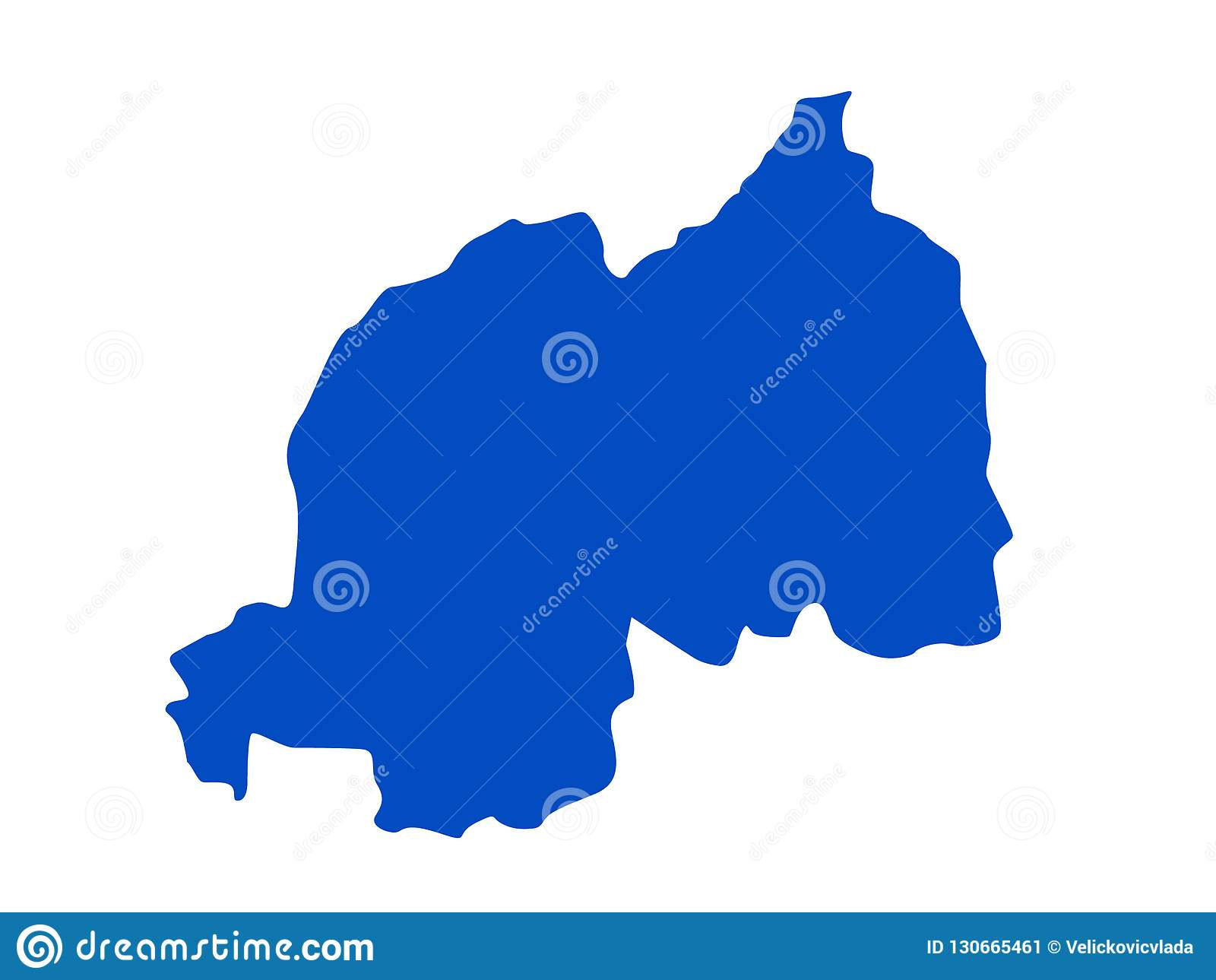 Rwanda Map Country In Central And East Africa Stock Vector