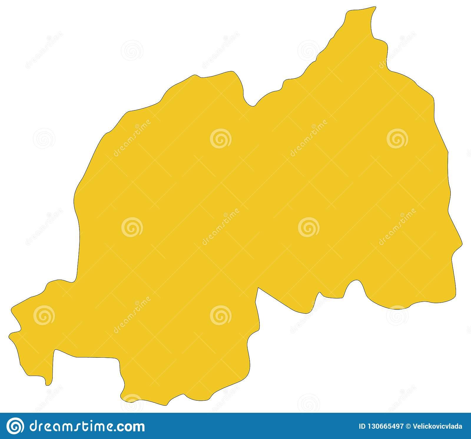 Rwanda Map - Country In Central And East Africa Stock Vector ...