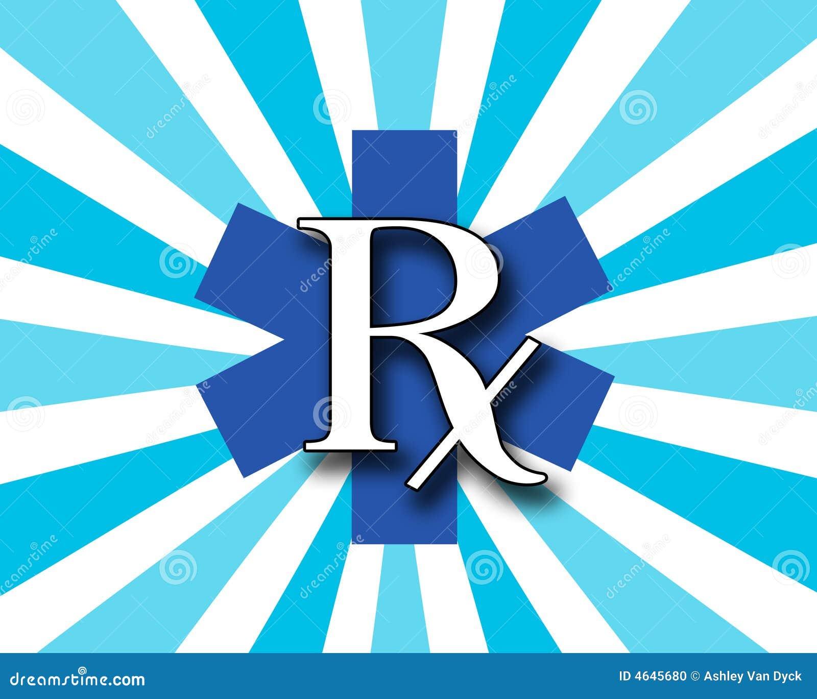 RX azul e branco