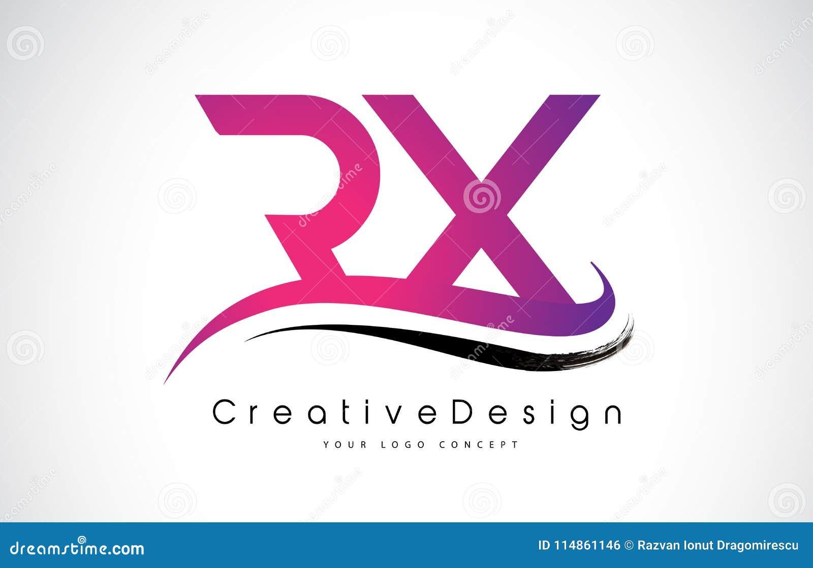 RX R X Letter Logo Design. Creative Icon Modern Letters Vector L ...