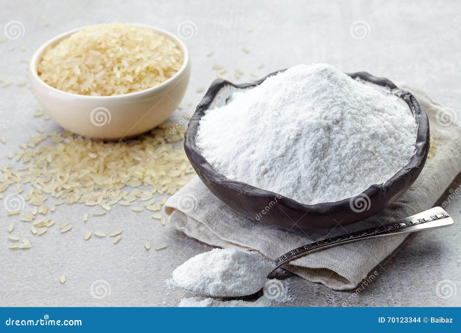 Ryżowa mąka i ryż