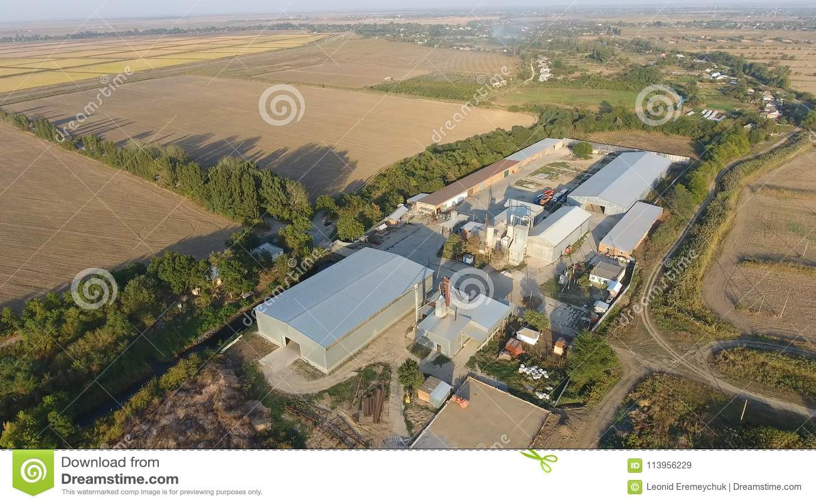 Ryżowa roślina Hangar dla magazynu adra Platforma dla suszyć i sintering adry Zbierająca adra