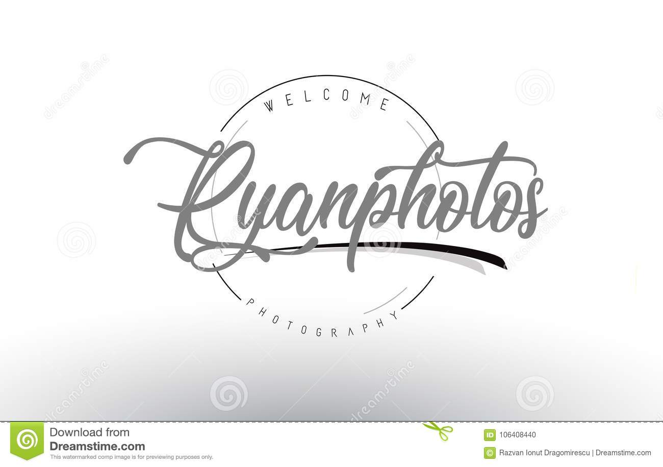 Ryan Personal Photography Logo Design With Photographer Name Stock Vector Illustration Of Curved Icon 106408440
