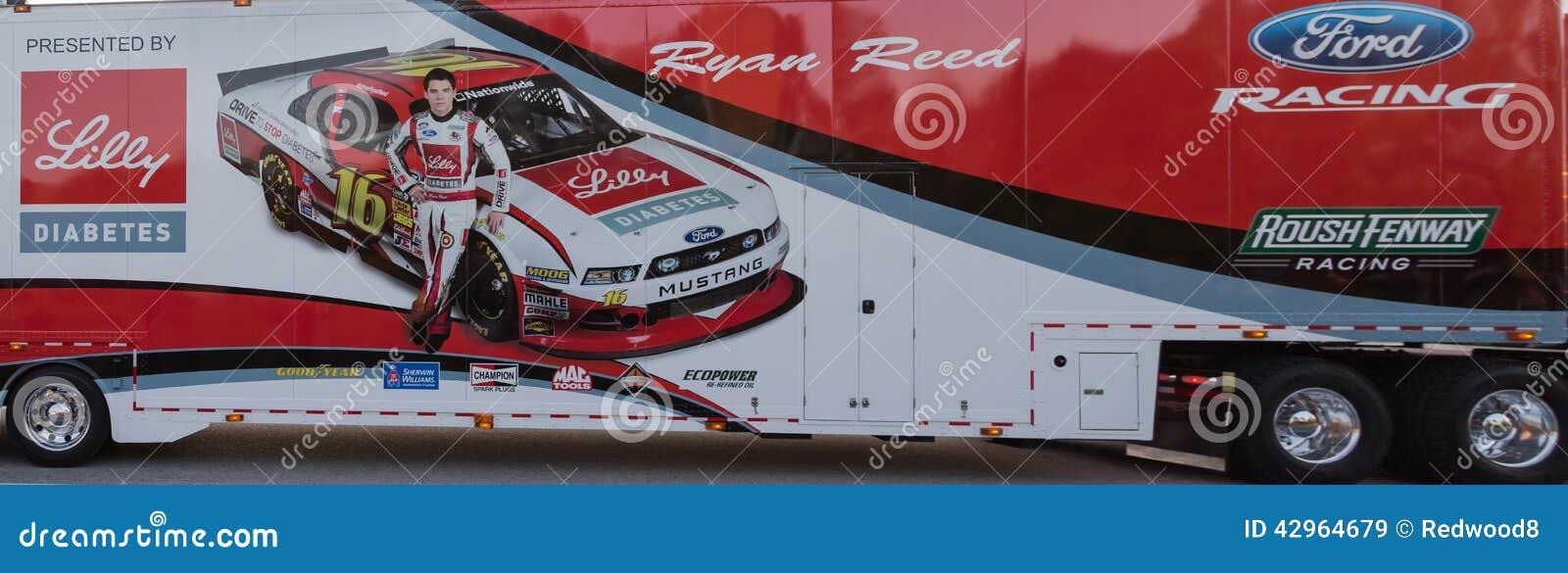 Ryan Reed NASCAR Hauler editorial stock image. Image of lilly - 42964679