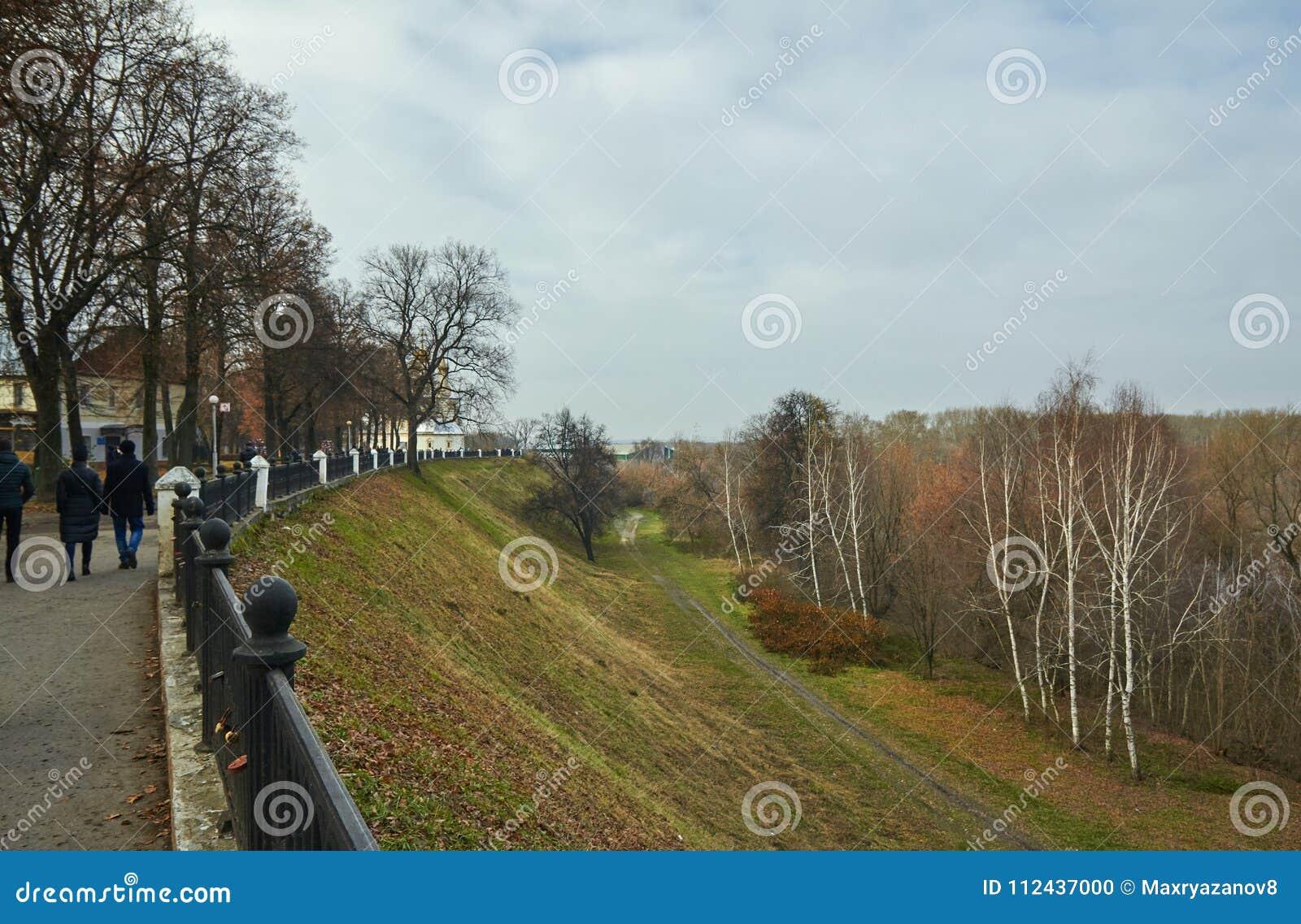 Ryazan, Rusland - November 05, 2017: Algemene mening van Ryazan k