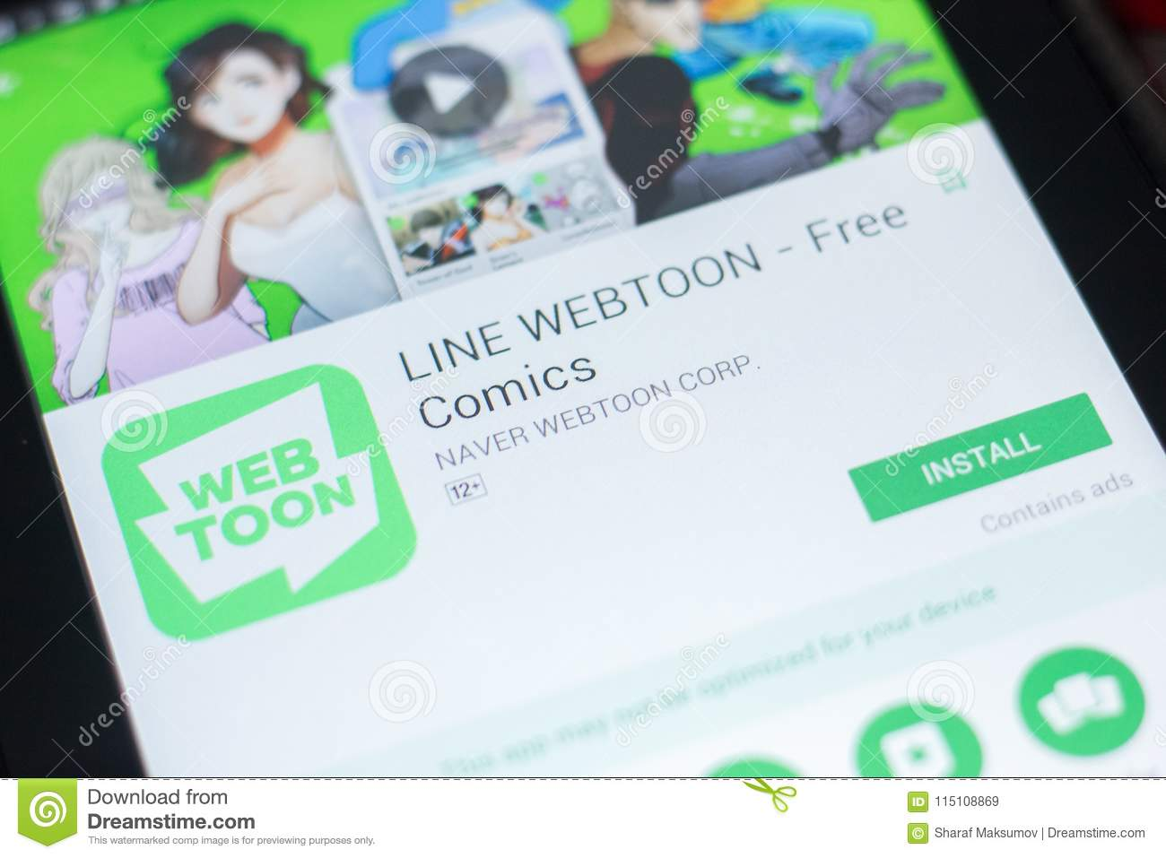Line Webtoon Ads