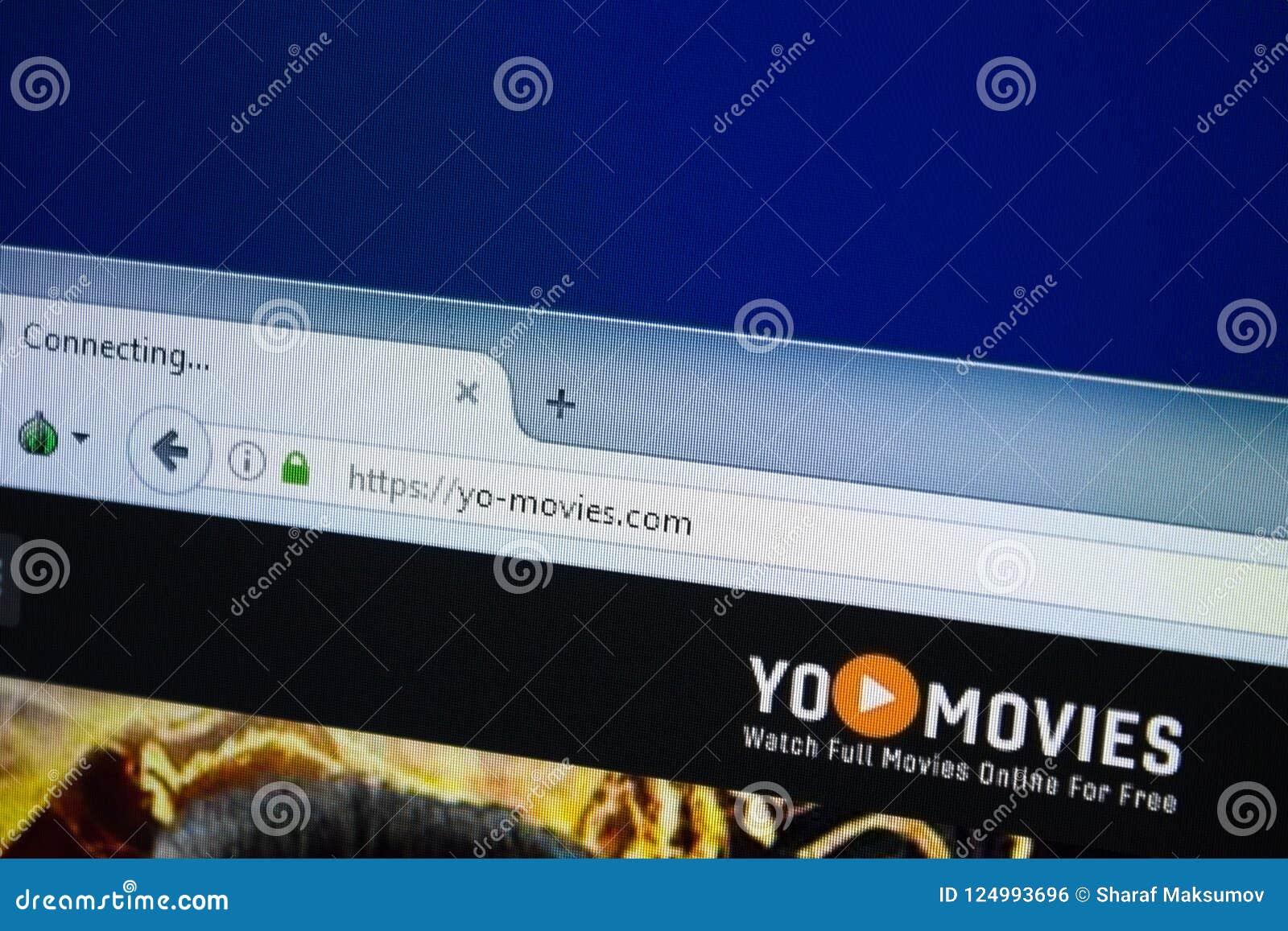 Ryazan, Russia - August 26, 2018: Homepage Of Yo-Movies Website On