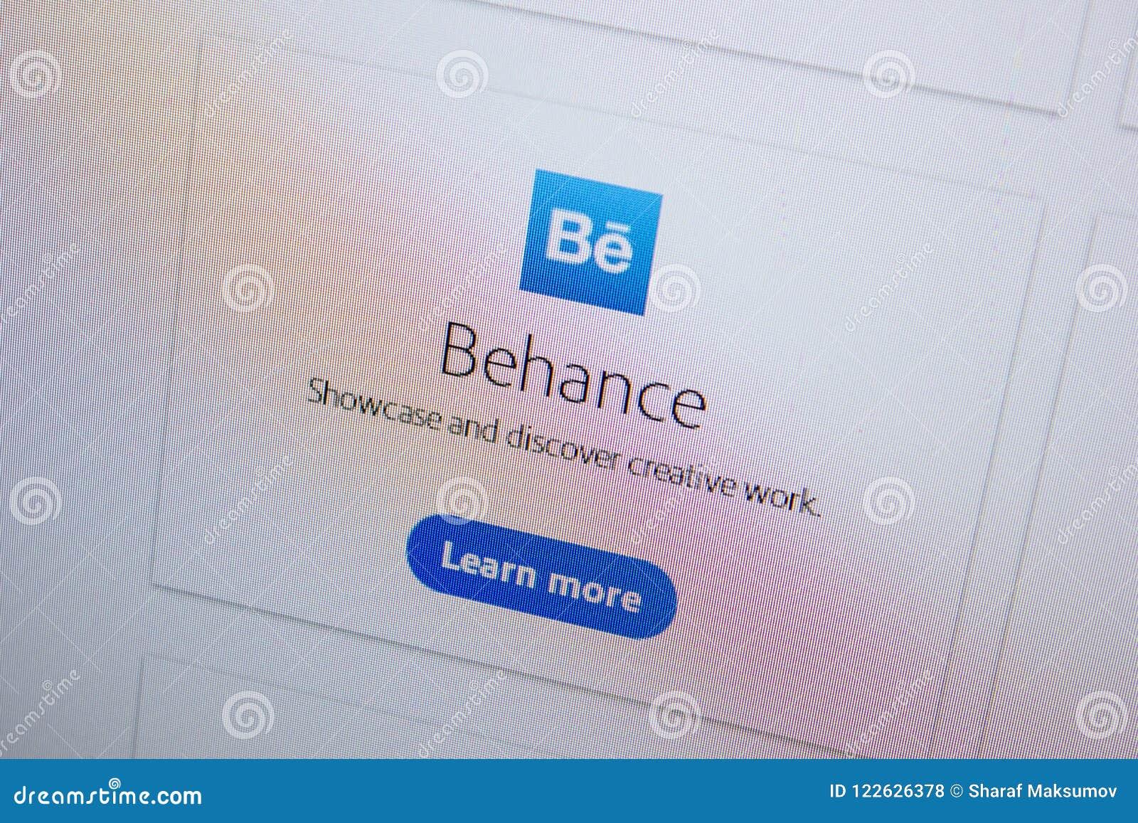 Ryazan, Russia - July 11, 2018: Adobe Behance, Software Logo On The
