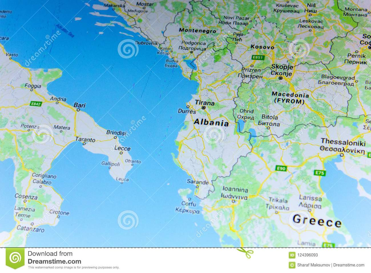 Ryazan, Russia - July 08, 2018: Country Of Albania On The Google ...