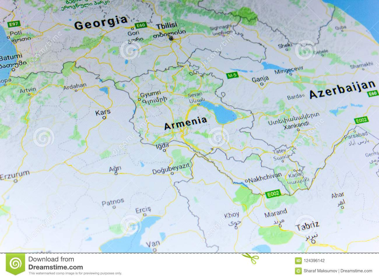 Google Map Of Russia.Ryazan Russia July 08 2018 Country Of Armenia On The Google
