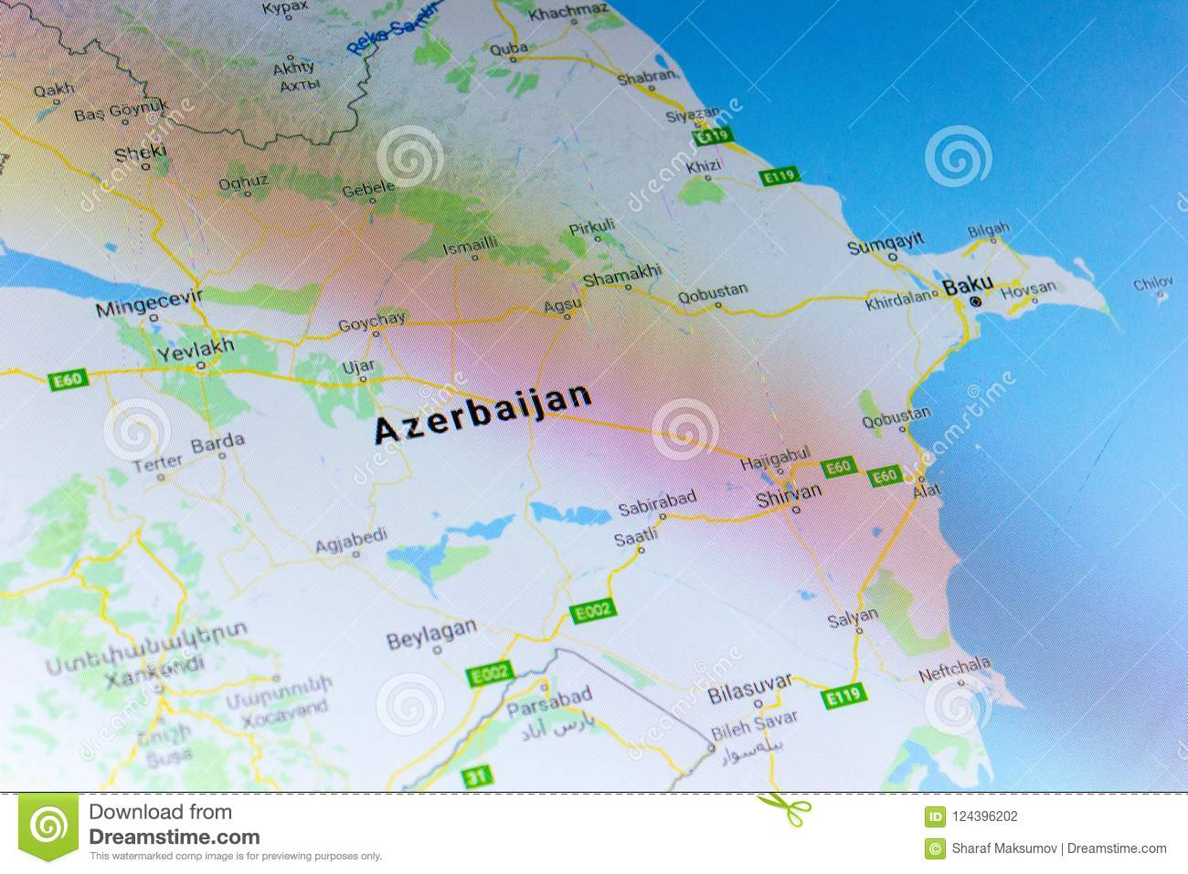 Ryazan russia july 08 2018 country of azerbaijan on the google ryazan russia july 08 2018 country of azerbaijan on the google maps service gumiabroncs Choice Image