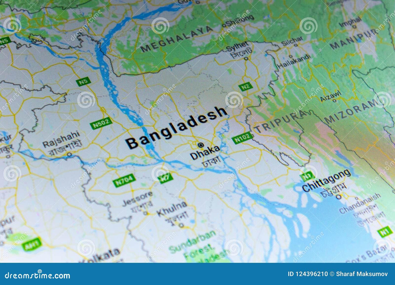Ryazan Russia July 08 2018 Country Of Bangladesh On The