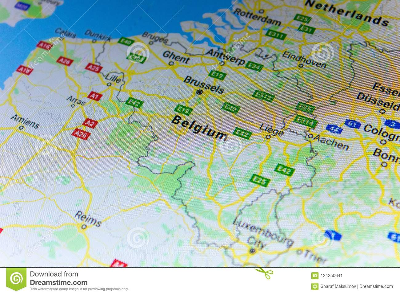 Ryazan, Russia - July 08, 2018: Country Of Belgium On The ... on world map russia, google map of georgia usa, google car russia, sochi russia, lake baikal russia, bing russia, google famous russian things, thunderstone russia, halo online russia, google mileage, patriot park russia, supercomputer russia, tolbachik russia, earth russia, f-22s russia, st petersburg russia,
