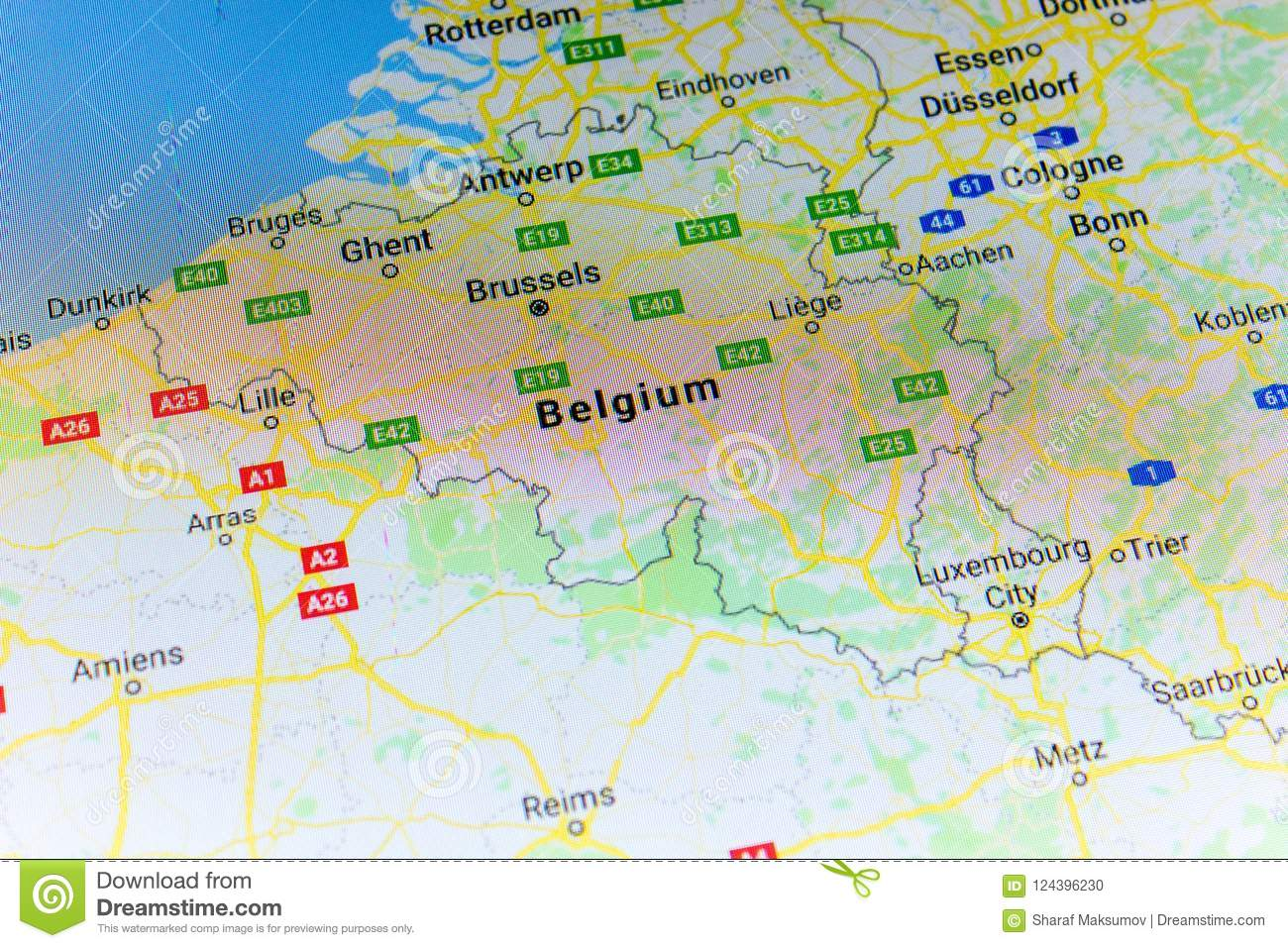 Google Map Of Russia.Ryazan Russia July 08 2018 Country Of Belgium On The Google