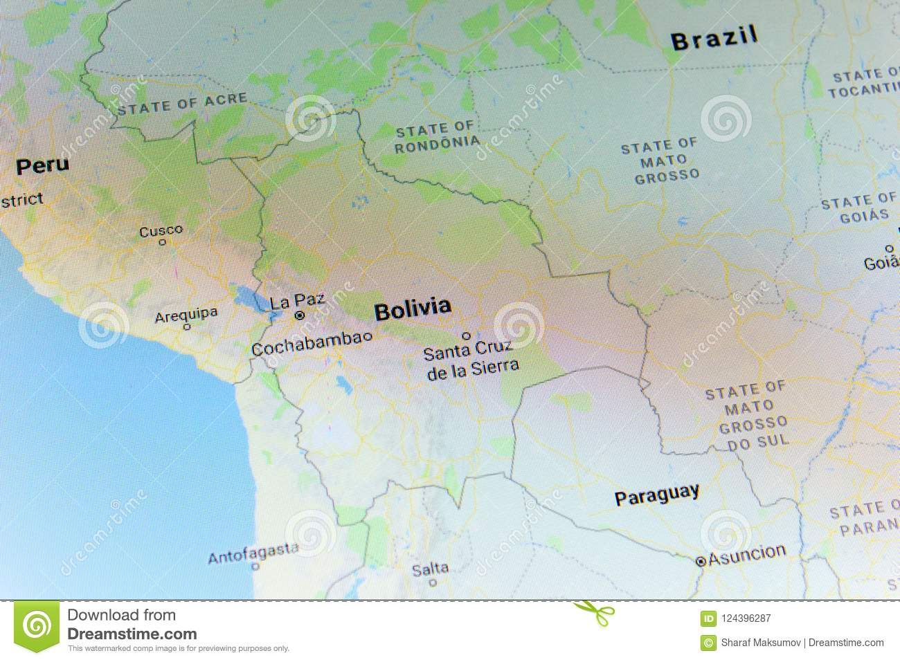 Ryazan Russia July 08 2018 Country Of Bolivia On The Google