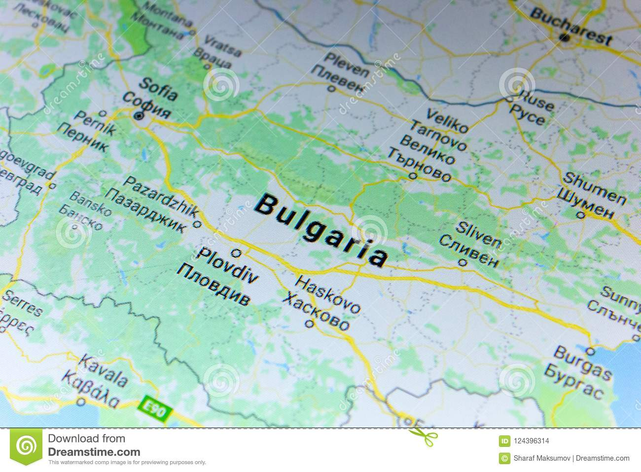 Google Map Of Russia.Ryazan Russia July 08 2018 Country Of Bulgaria On The Google