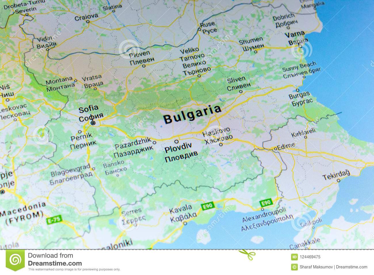 Ryazan Russia July 08 2018 Country Of Bulgaria On The Google
