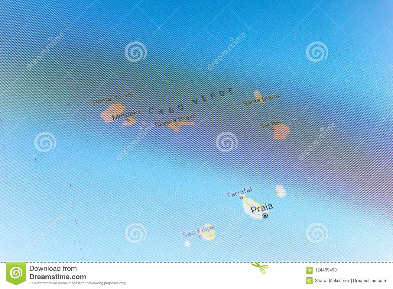 Ryazan, Russia - July 08, 2018: Country Of Cabo Verde On The Google on