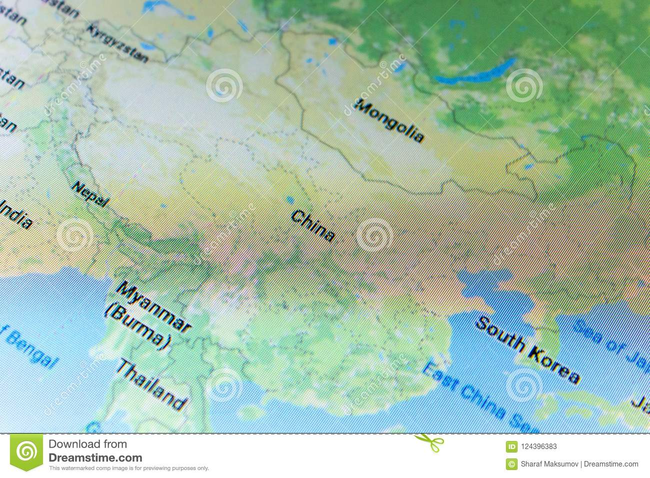 Ryazan, Russia - July 08, 2018: Country Of China On The Google Maps ...