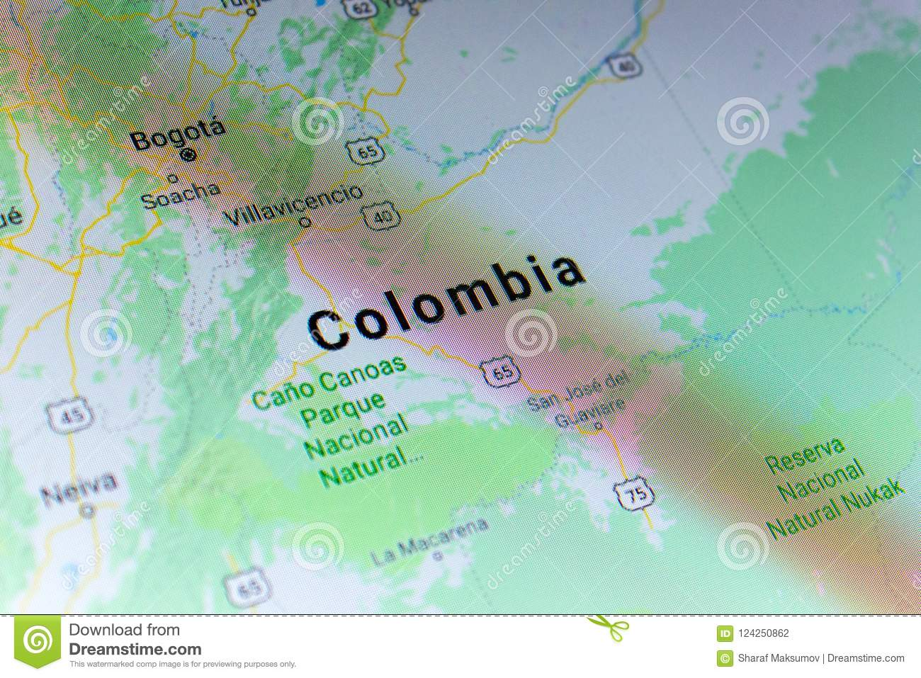 Ryazan, Russia - July 08, 2018: Country Of Colombia On The ...