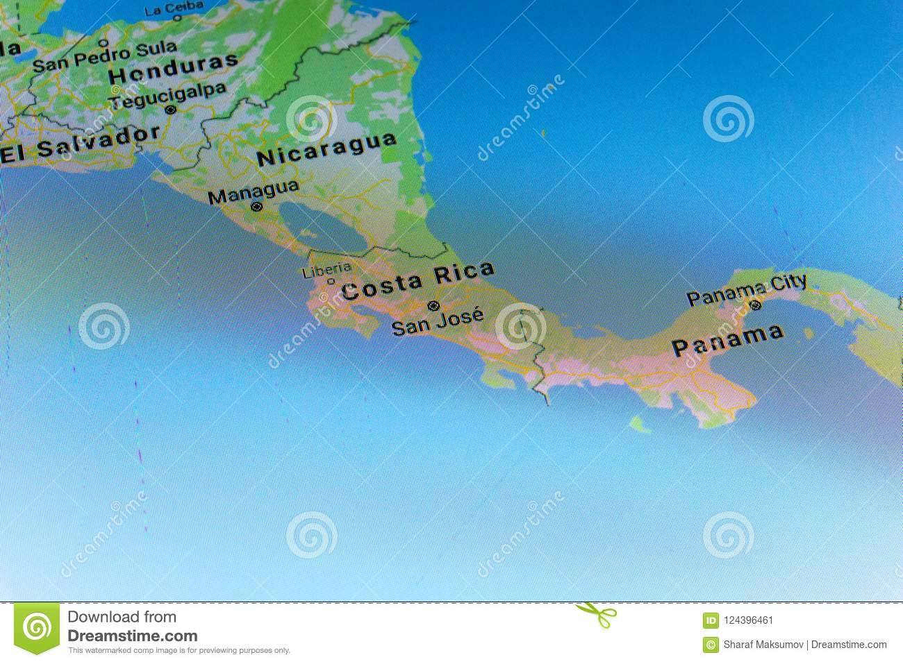 Ryazan, Russia - July 08, 2018: Country Of Costa Rica On The Google ...