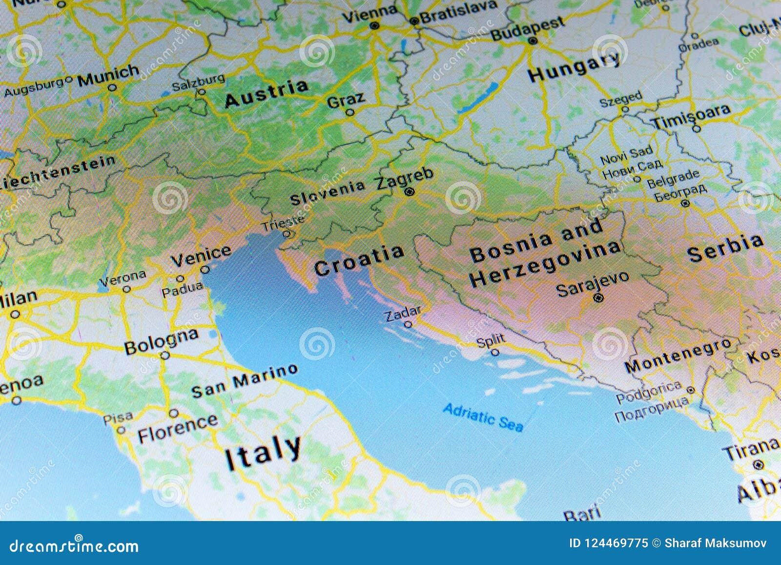 Ryazan, Russia   July 08, 2018: Country Of Croatia On The Google