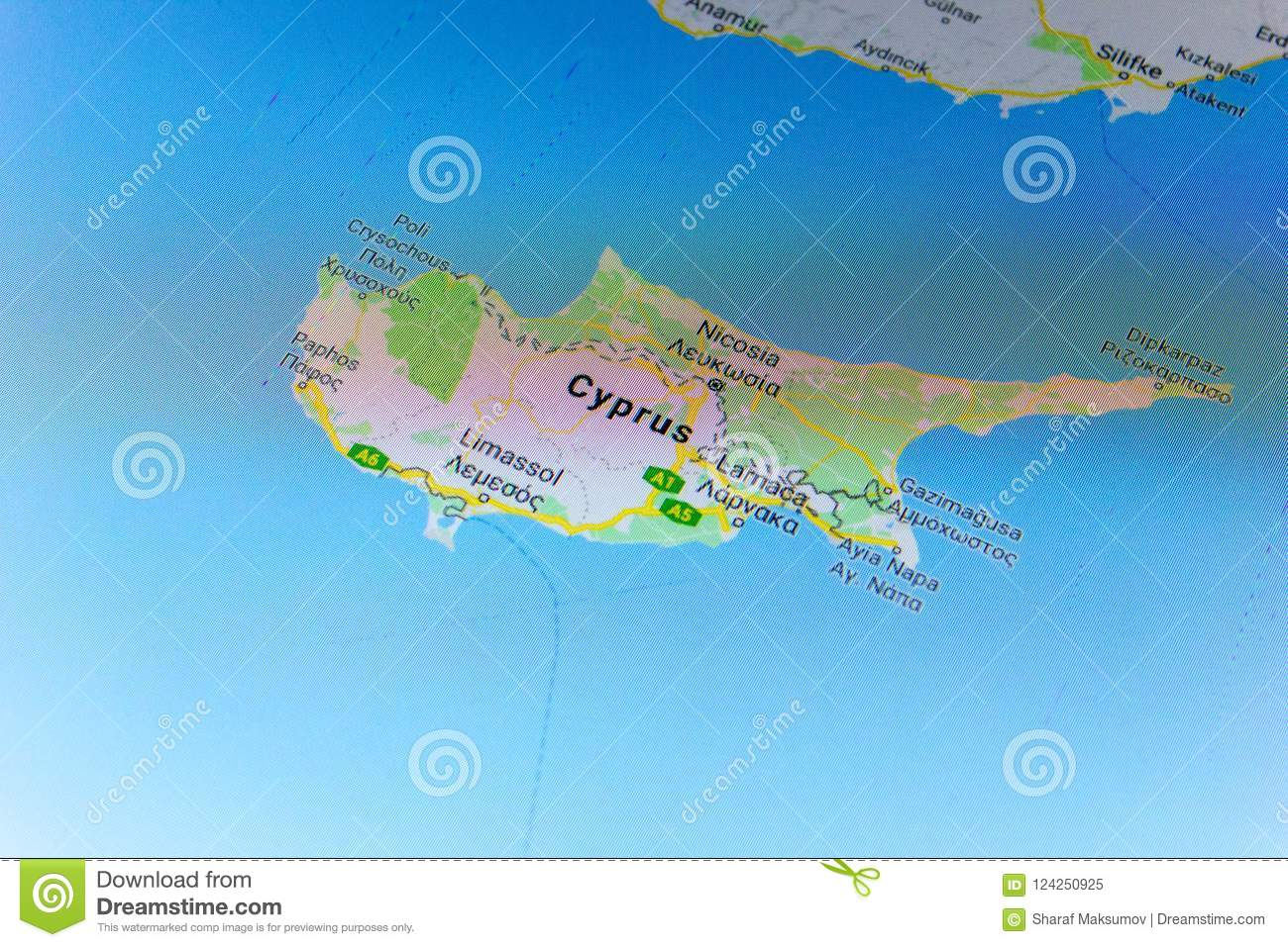 Ryazan russia july 08 2018 country of cyprus on the google maps download ryazan russia july 08 2018 country of cyprus on the google gumiabroncs Gallery