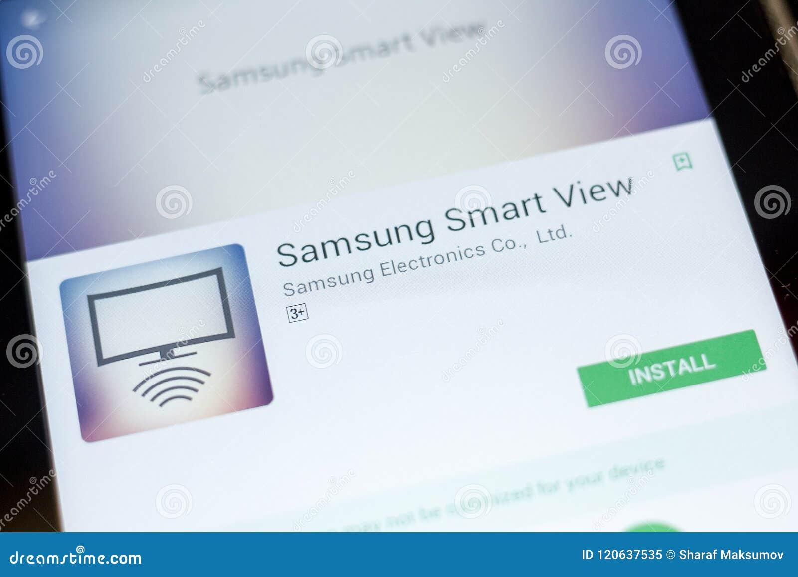 Ryazan, Russia - July 03, 2018: Samsung Smart View Mobile