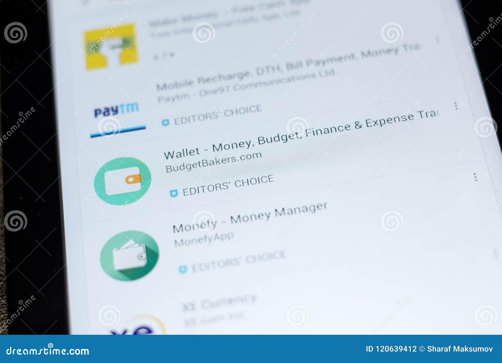 Ryazan, Russia - July 03, 2018: Wallet - Money, Budget