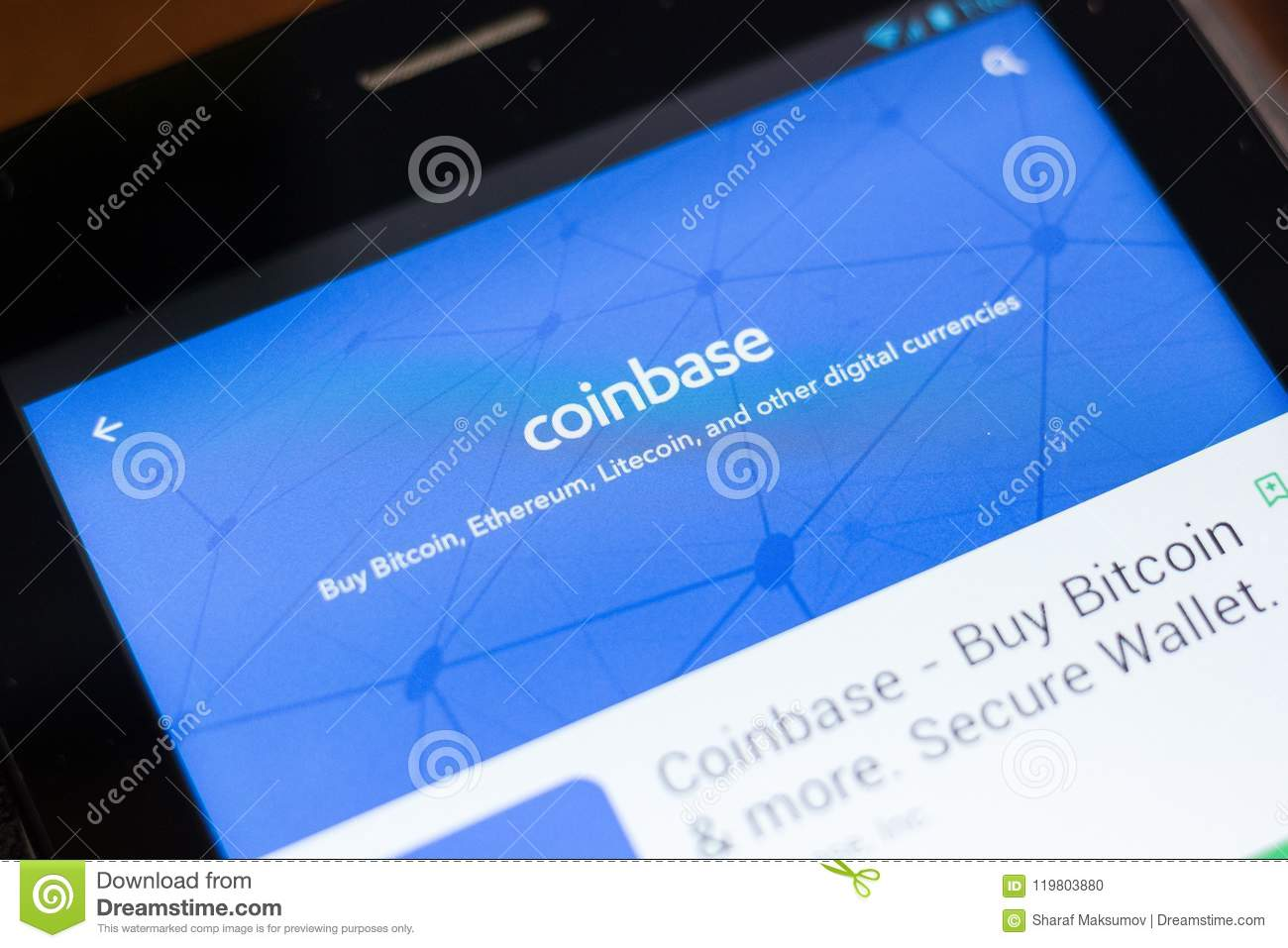 Ryazan russia june 24 2018 coinbase buy bitcoin and more download comp ccuart Choice Image