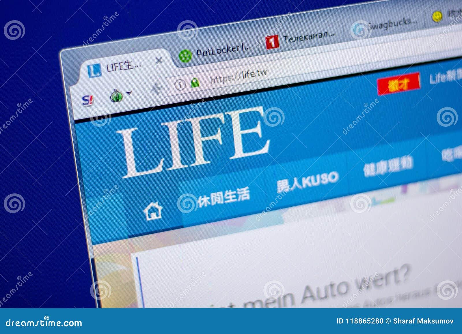 Ryazan, Russia - June 05, 2018: Homepage Of Life Website On