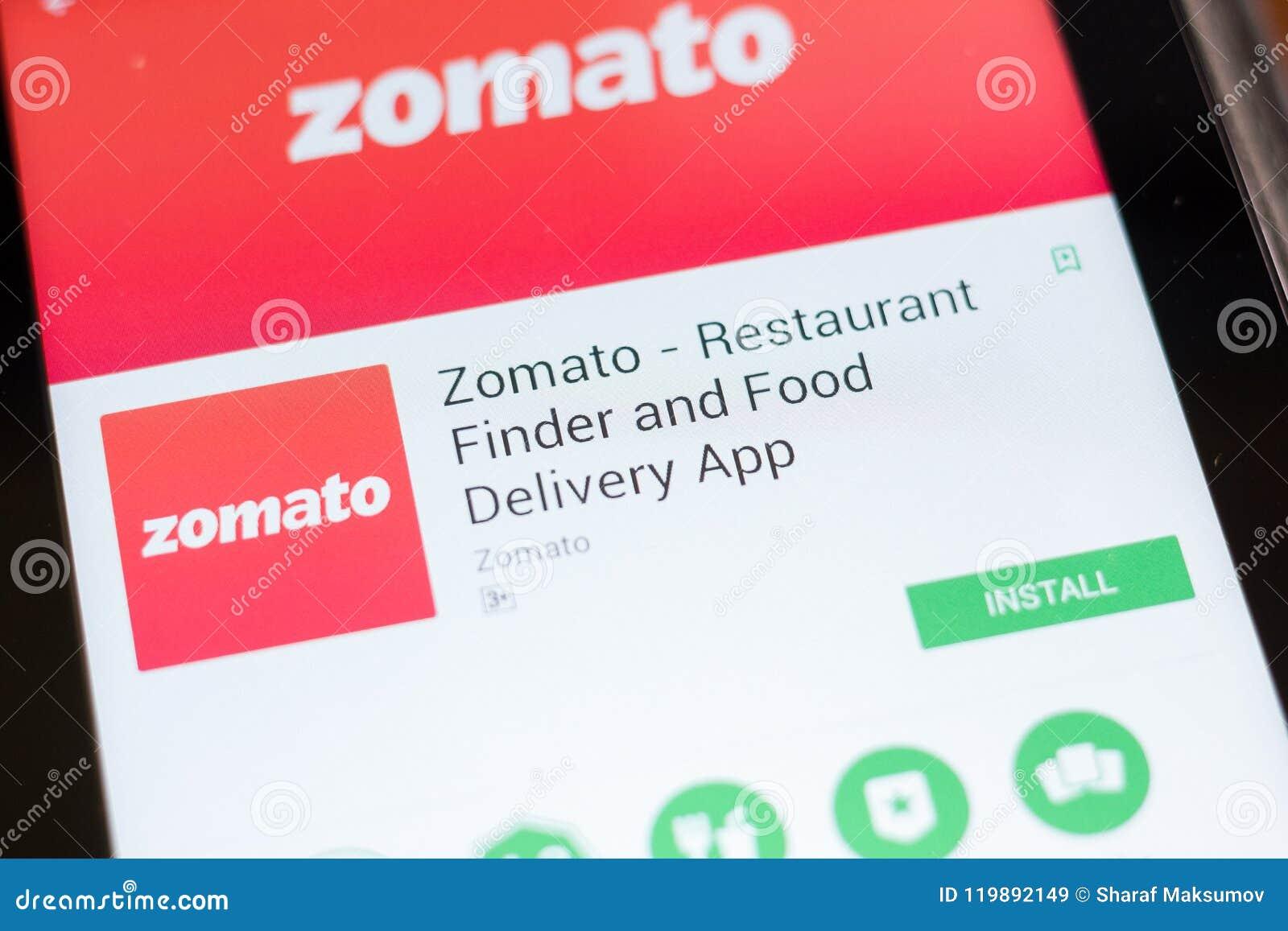 Ryazan Russia June 24 2018 Zomato Restaurant Finder