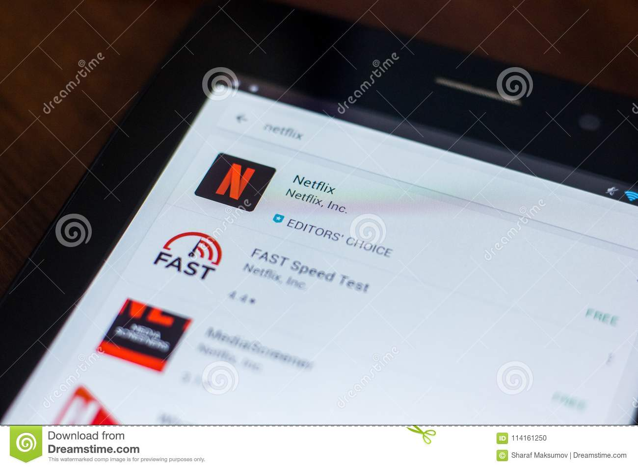 Ryazan, Russia - March 21, 2018 - Netflix Icon In The List Of Mobile