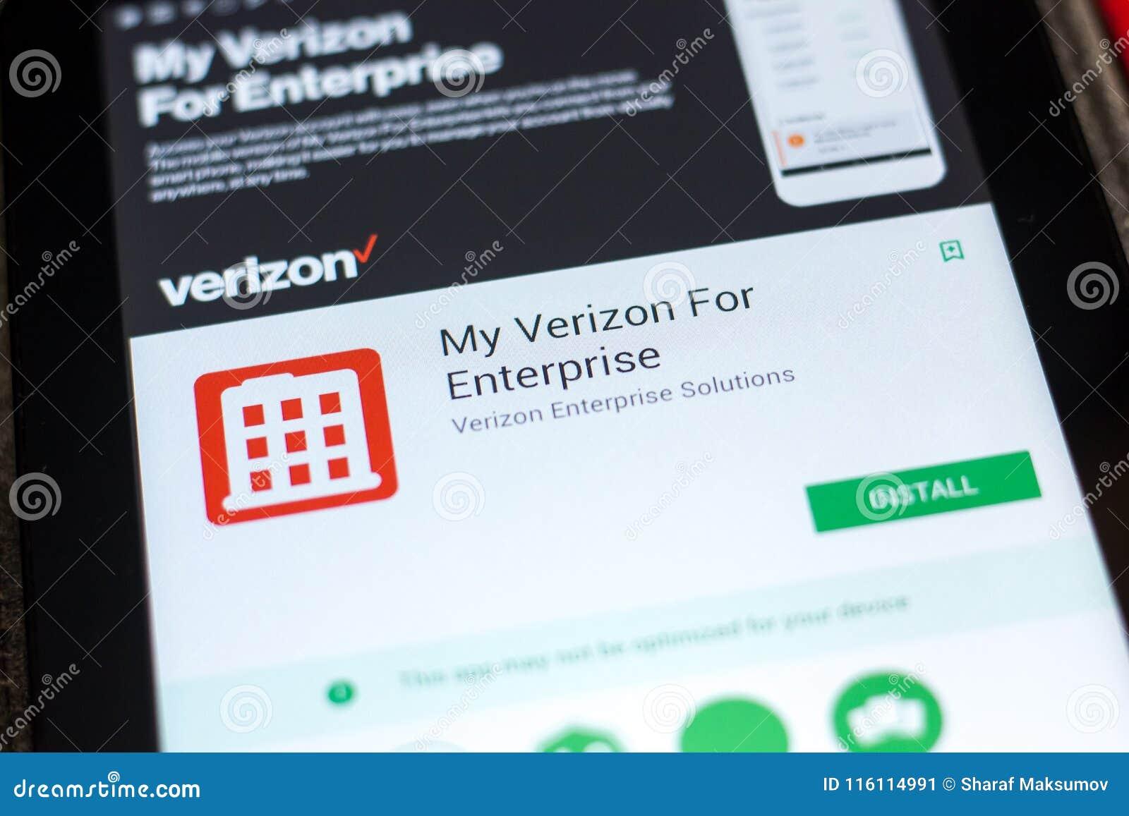 Ryazan, Russia - May 02, 2018: My Verizon For Enterprise