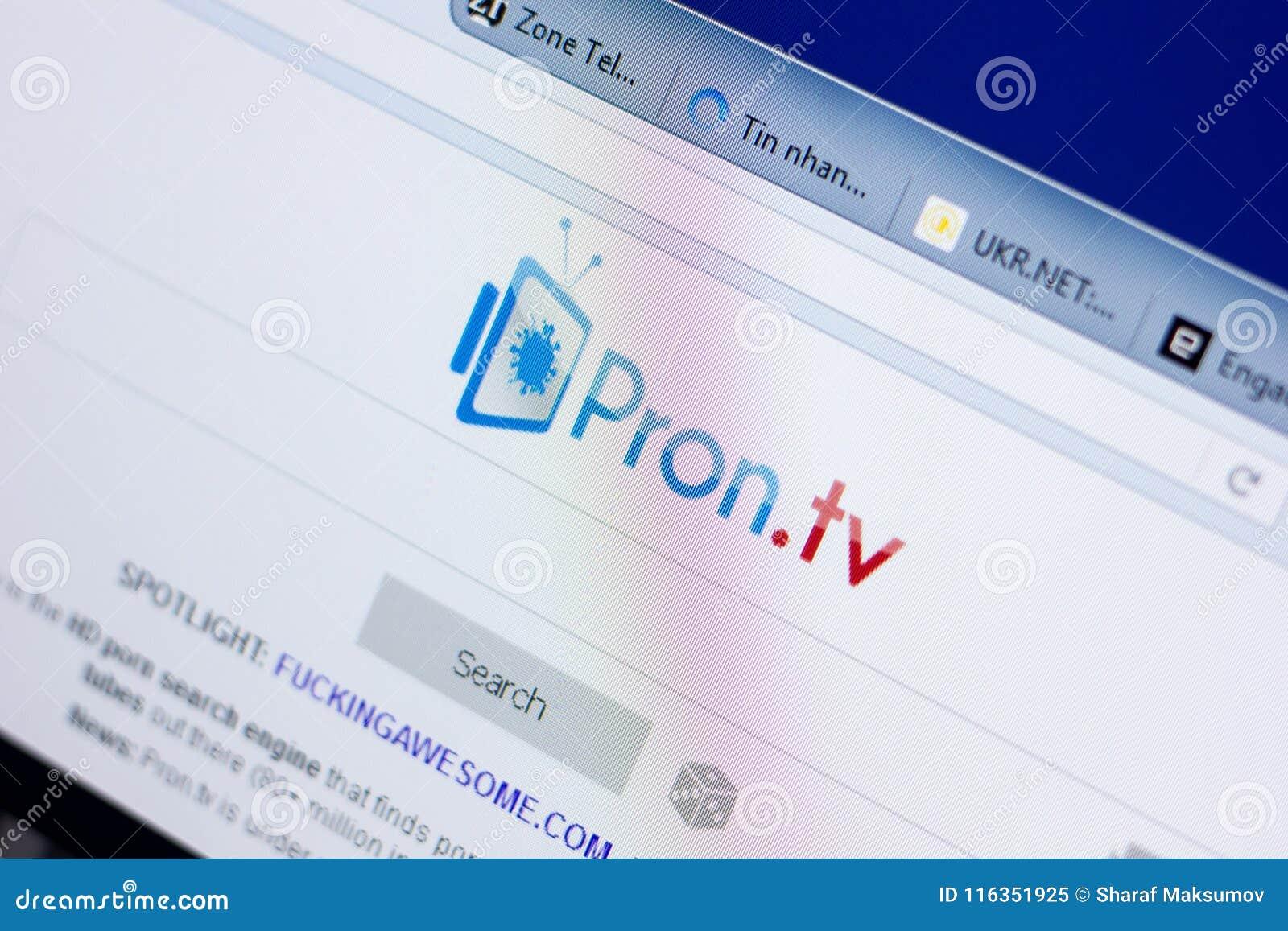 Ryazan Russia May 08 2018 Pron Website On The Display Of Pc Url Pron Tv