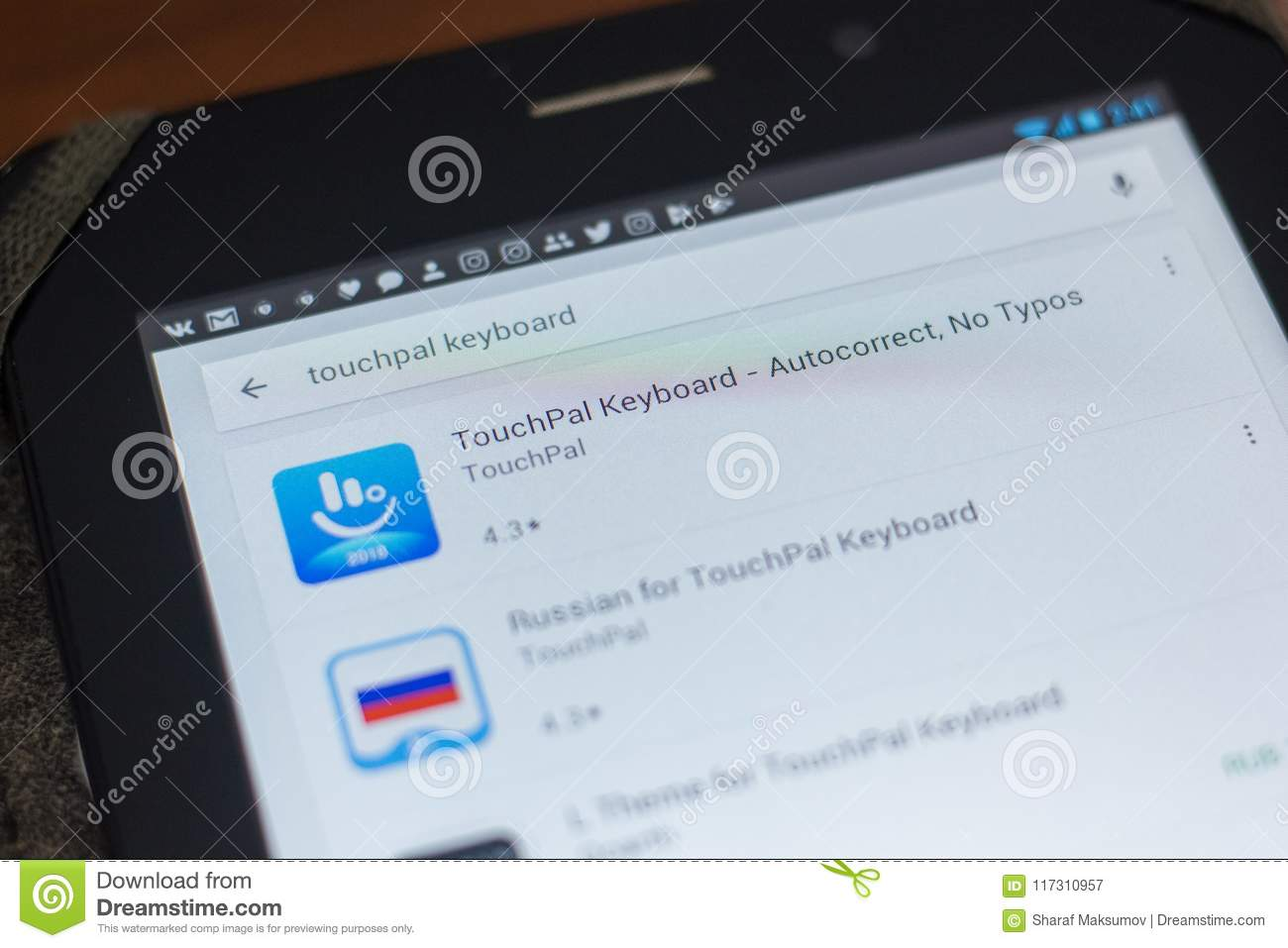 Ryazan, Russia - May 16, 2018: TouchPal Keyboard App Icon Or
