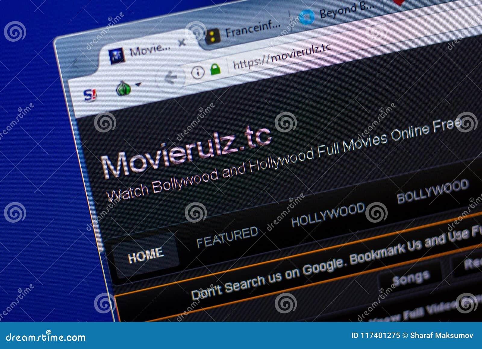 Ryazan Russland 20 Mai 2018 Homepage Von Movierulz Website Auf