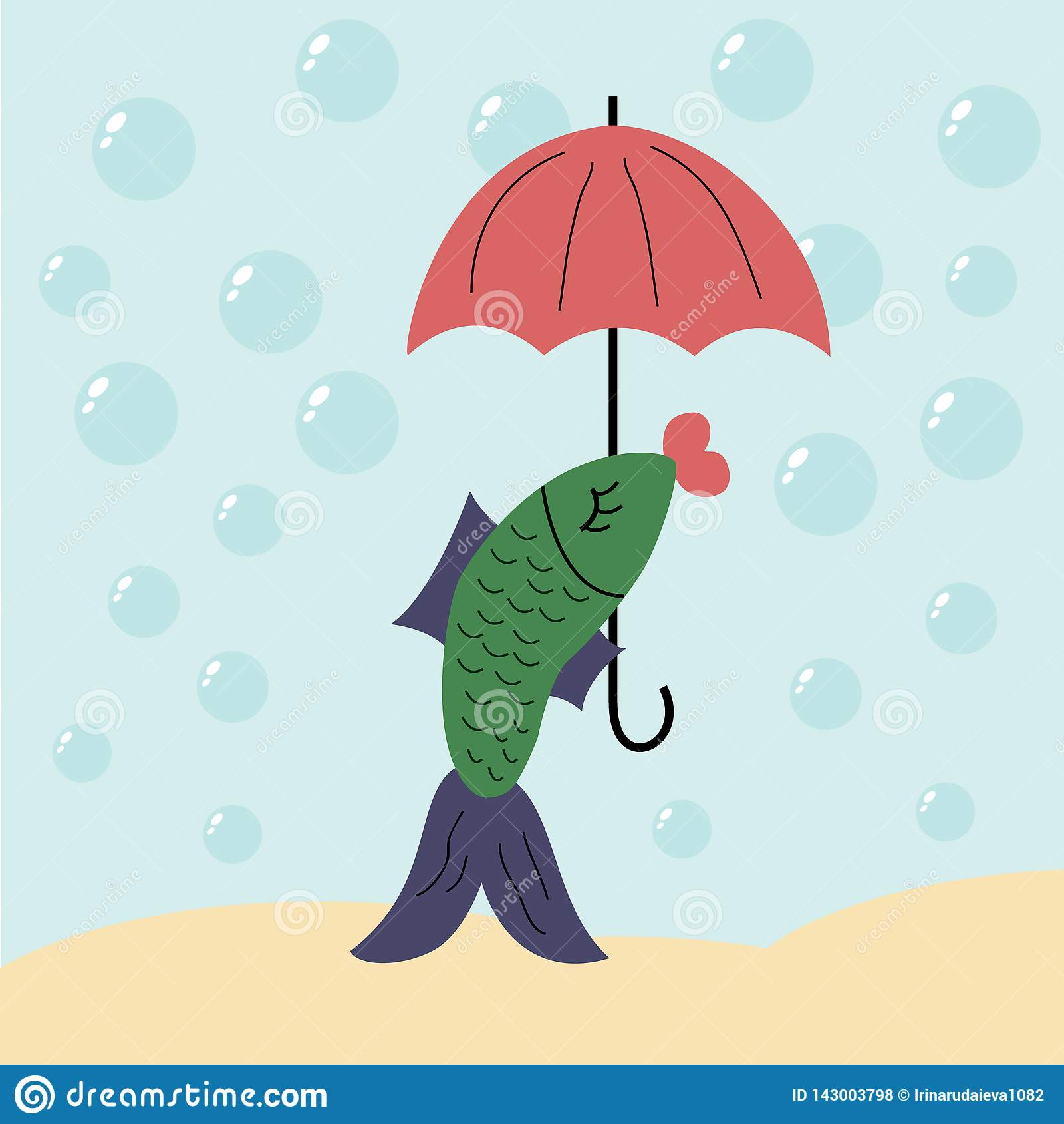Ryba pod parasolem