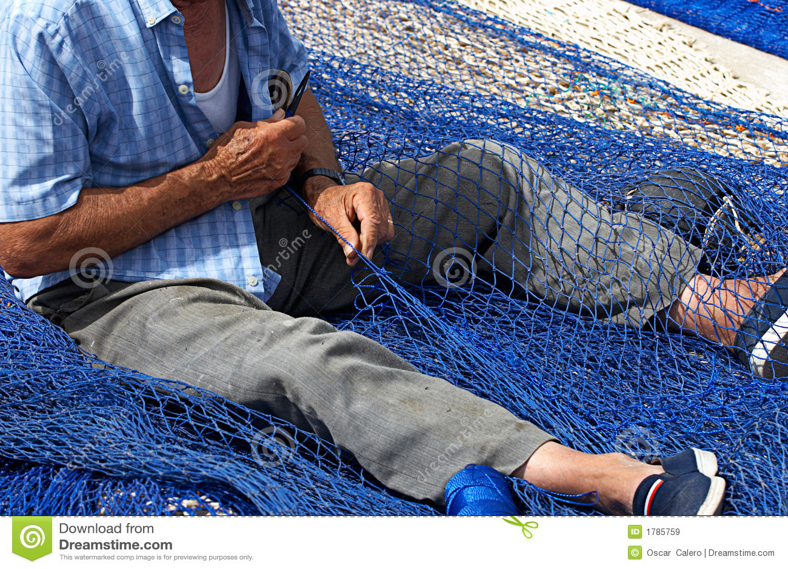 Rybacy zacerowanie starego netto