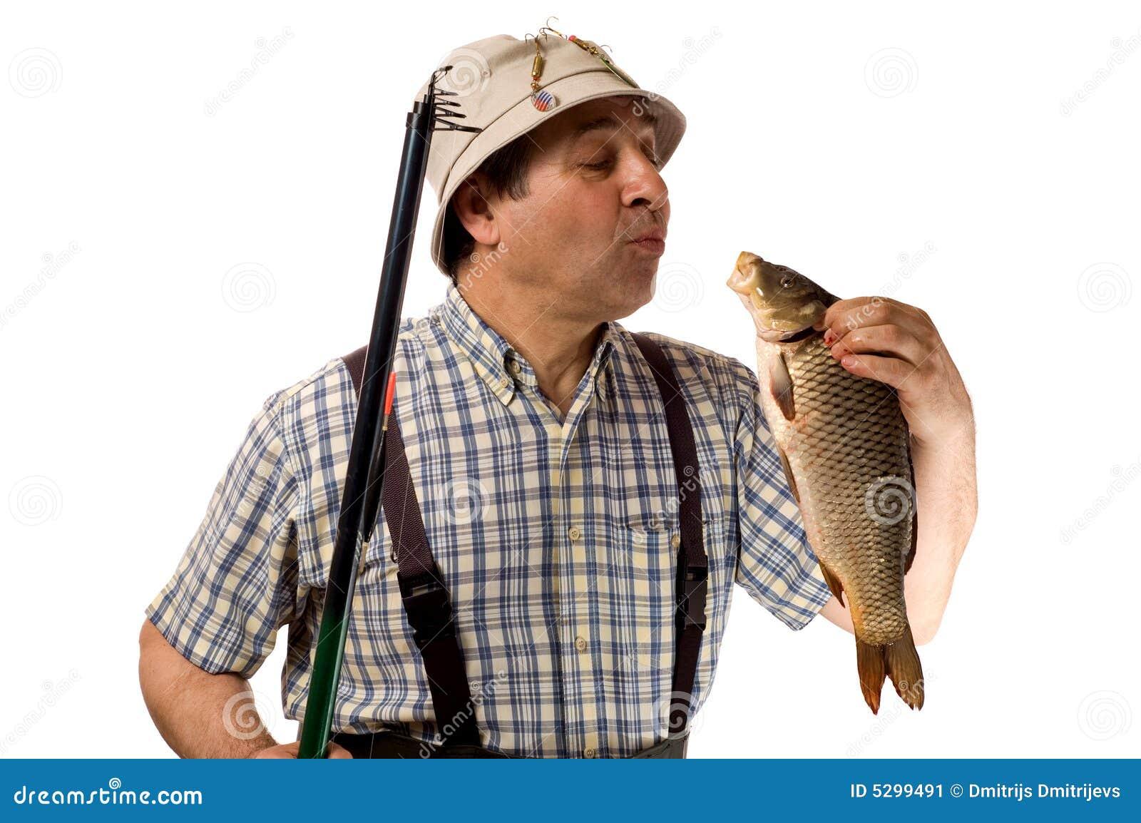 Rybak łowi się jego kij w ostatniej klasie
