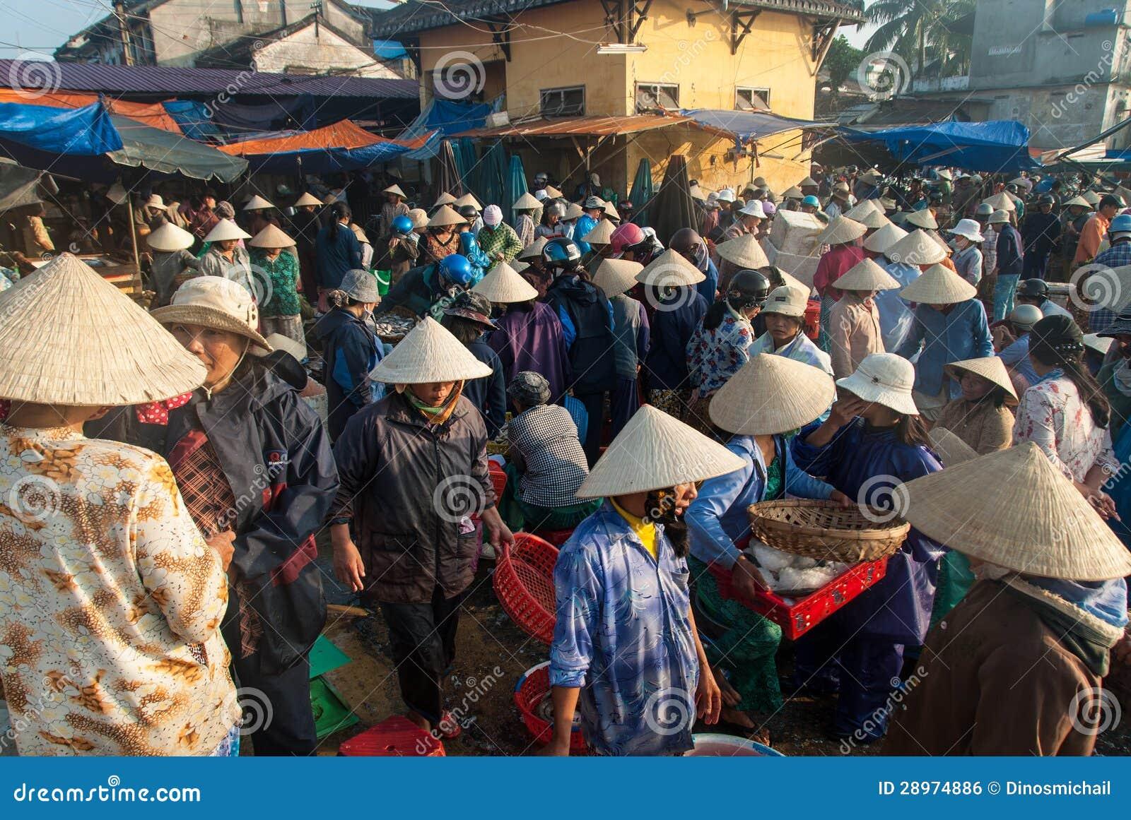 Rybi rynek Hoi, Wietnam