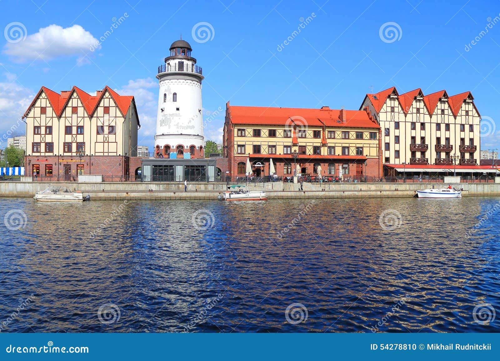 Rybia wioska  stylizująca pod architekturą przedwojenny Konigsberg