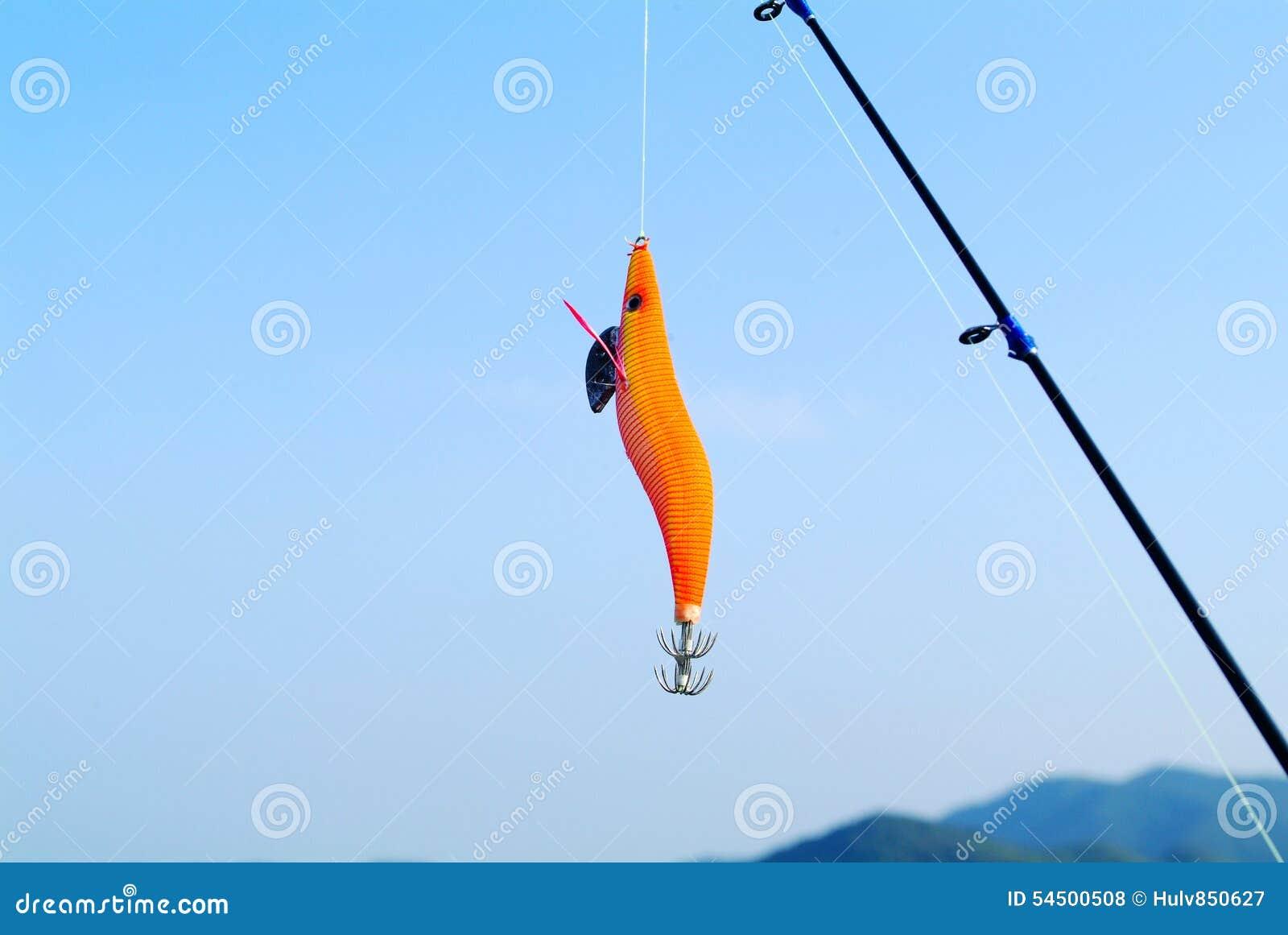 Rybiego haczyka i ryba prącie