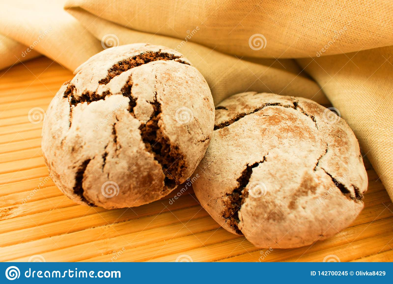 Rye bread on the table