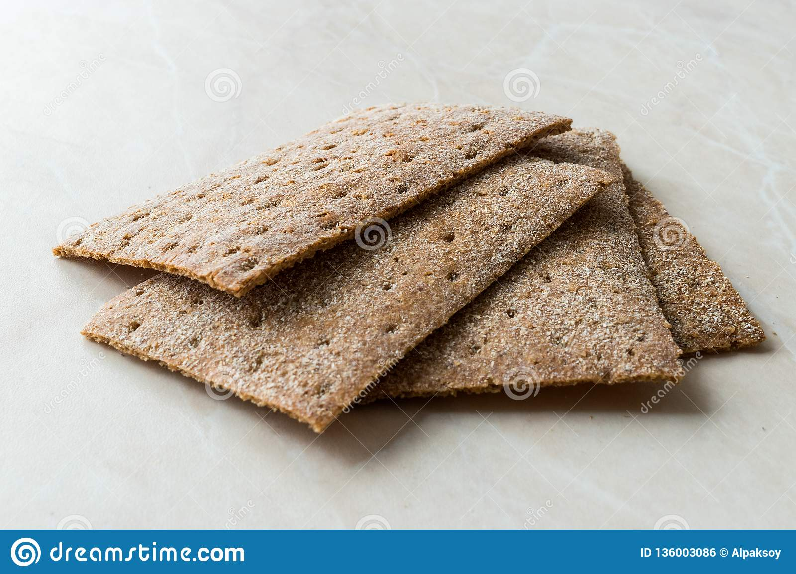 Rye Crispbread made with Sourdough / Cereal Crunchy Multigrain Cereal Flax seeds Protein Bread