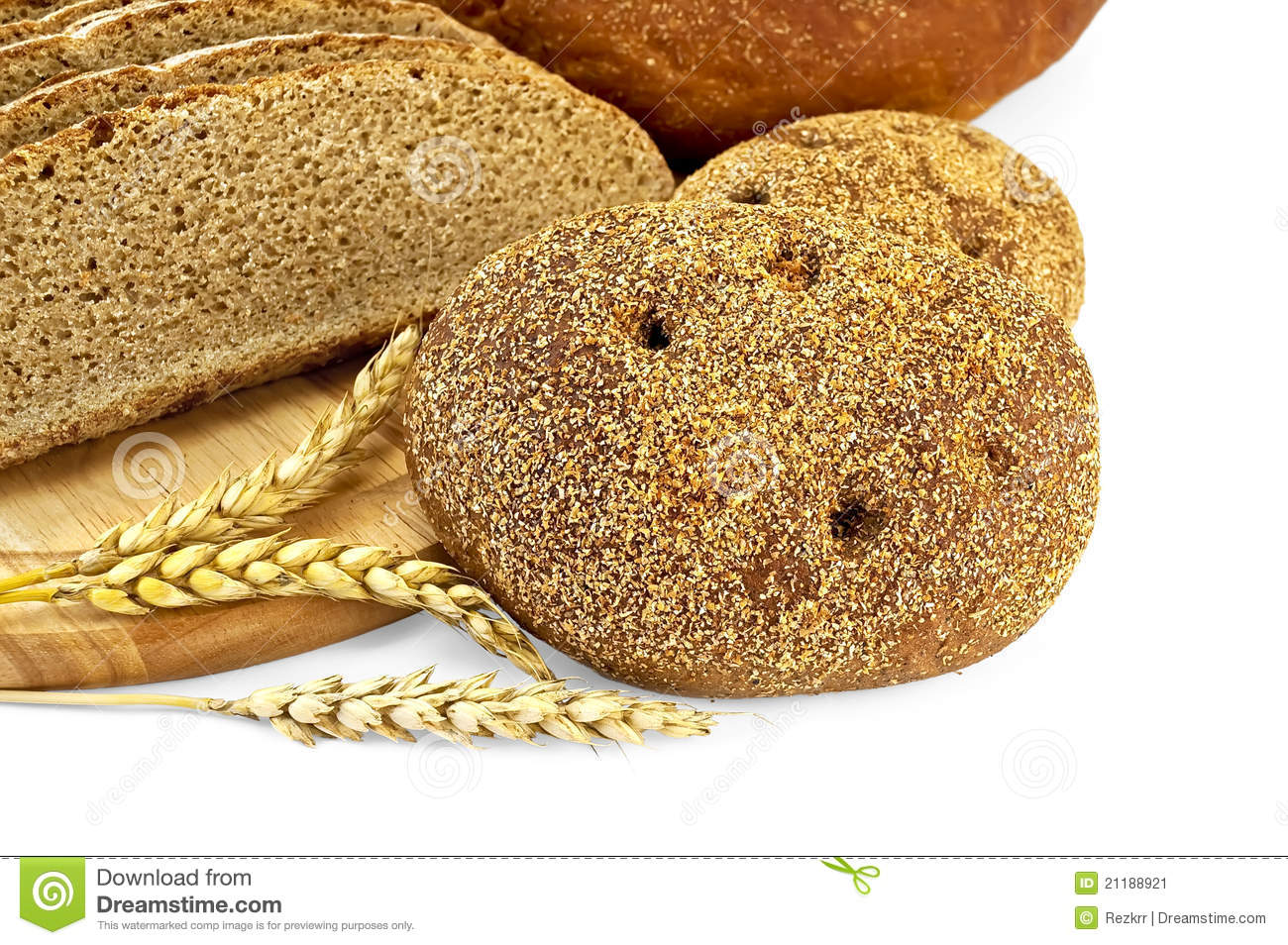 Rye flapjack with bread
