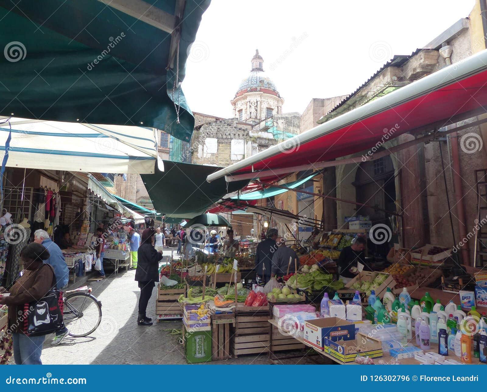 Rynek Ballarà ² Palermo antyczny rynek miasto Sycylia włochy