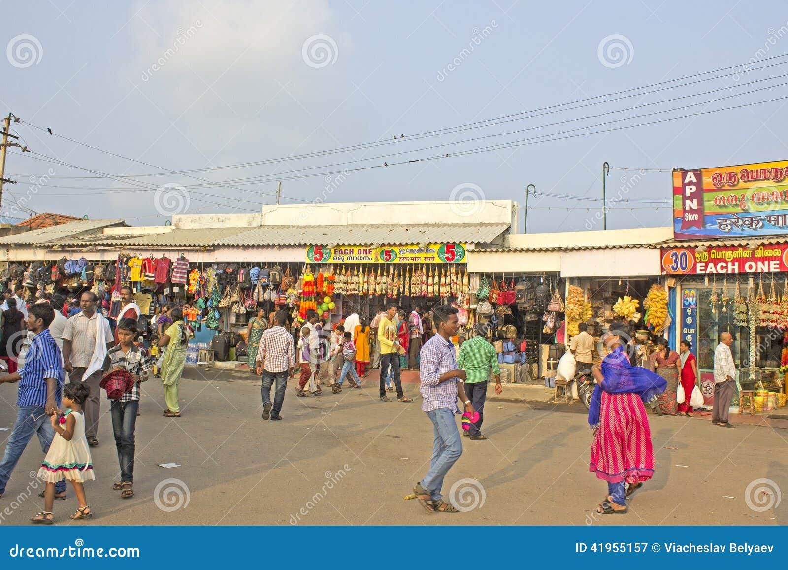 Rynek w Kanyakumari