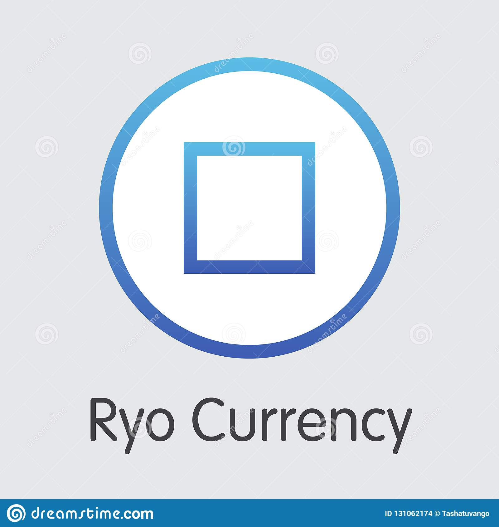Ryo Currency - pictograma de Blockchain Cryptocurrency Engrana el icono