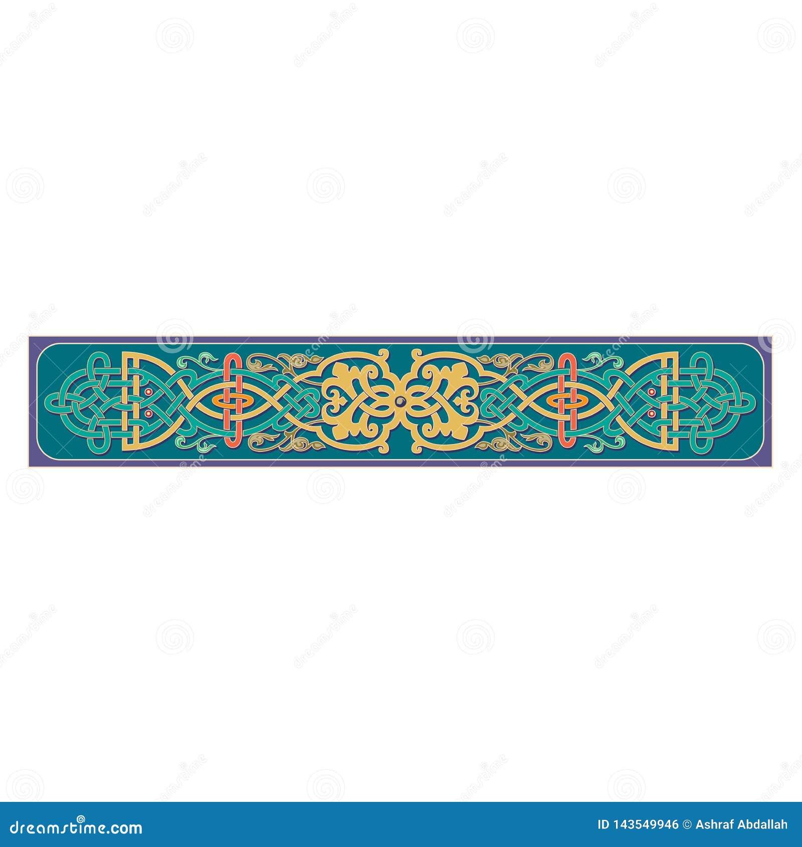Rysk celtic orientalisk prydnad - illustrationdesigner